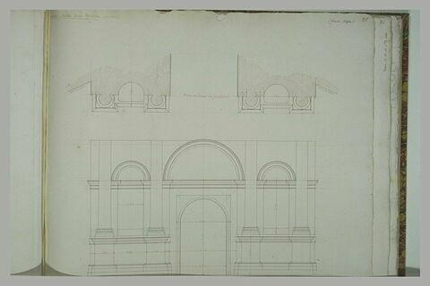 Rome : plans de la Porta San Spirito