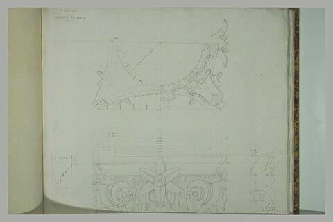 Tivoli : chapiteaux du Temple de Vesta