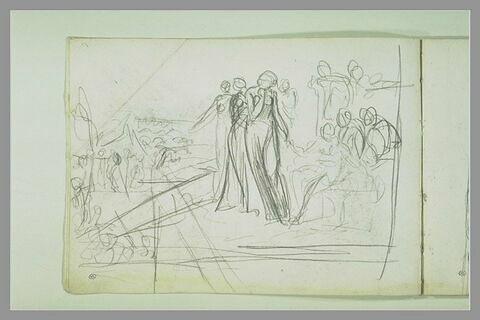 Scène antique : le jugement de Pâris (?)