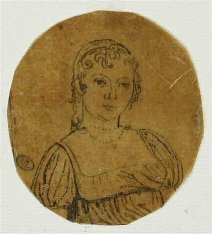 Portrait de femme, en buste, en toilette Empire