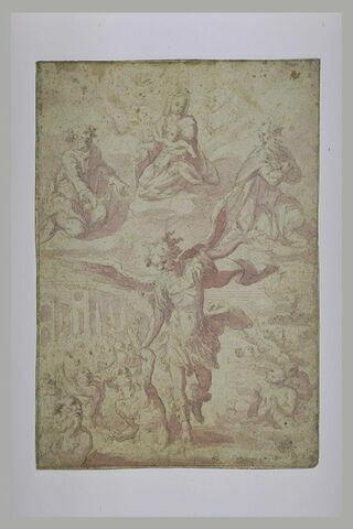 Saint Michel archange sauvant les âmes du Purgatoire