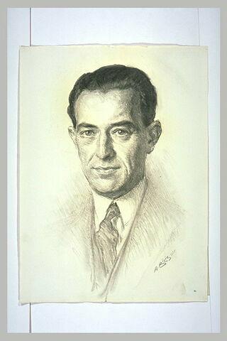 Portrait en buste de M. Jacques Jaujard, sous-directeur des Musées Nationaux