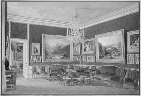 Vue du salon des Dames au palais de Saint-Cloud