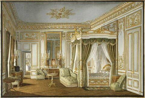 Vue de la chambre à coucher de l'Impératrice au palais de Saint-Cloud