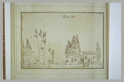 Vue d'un paysage avec des maisons