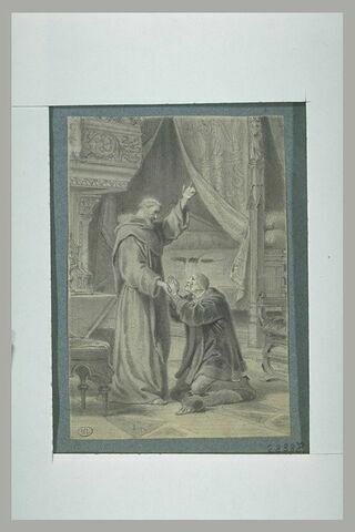 Louis XI aux pieds de Saint-François de Paule
