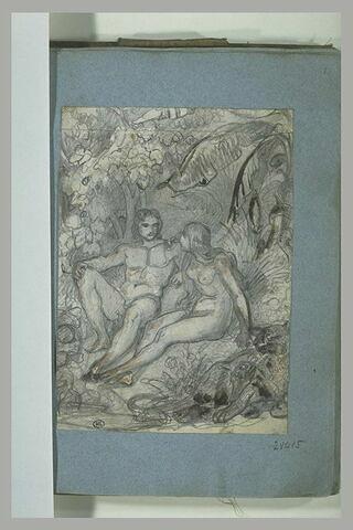 Adam et Eve au Paradis terrestre