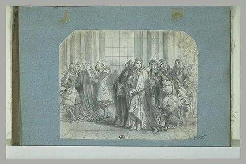 Gentilhommes et magistrats dans une galerie