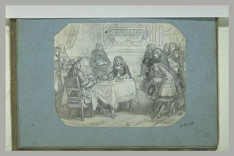 Louis XIV faisant déjeuner Molière avec lui