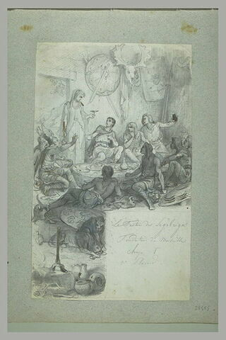 Jeune femme présentant une coupe à un guerrier : la fondation de Marseille ?