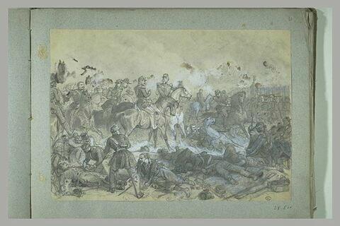 Napoléon III et son Etat-major à une bataille