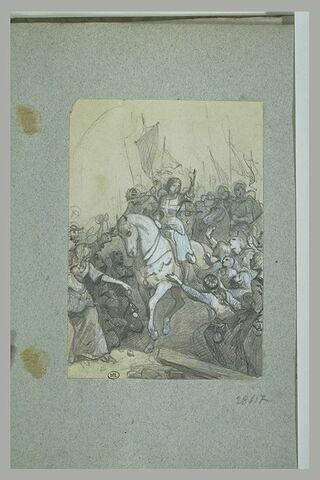 Jeanne d'Arc encourageant ses soldats