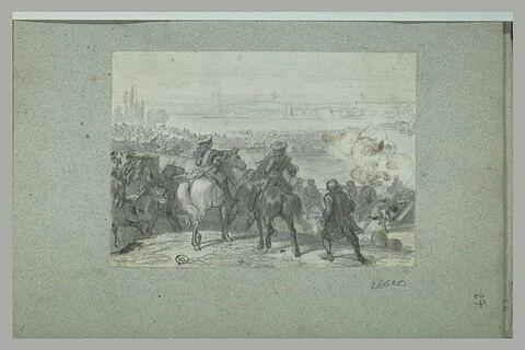 Une bataille à l'époque de Louis XIV