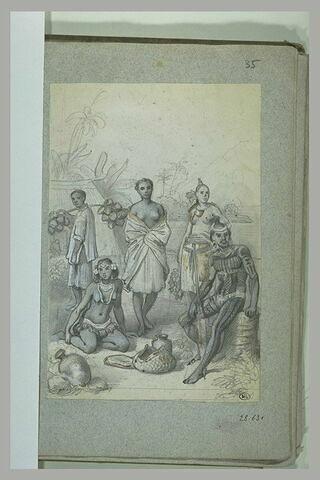 Groupe de Tahitiens