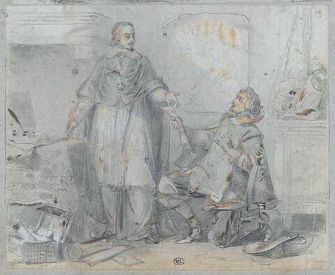 Les Trois Mousquetaire : Richelieu remettant un pli à un mousquetaire