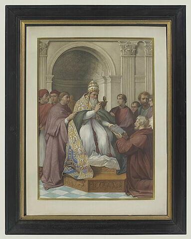 Fragment de la chambre de Jules II, au Vatican, copie d'après Raphaël