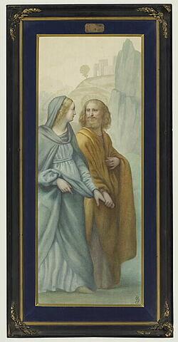 Les fiançailles de la Vierge, copie d'après Luini