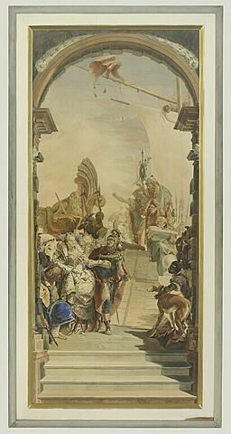 Le Festin de Cléopatre au Palais Labia, copie d'après Tiepolo
