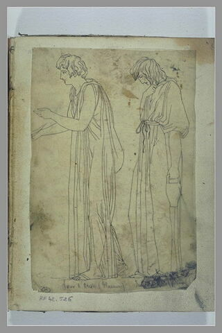 Deux figure d'après l'antique