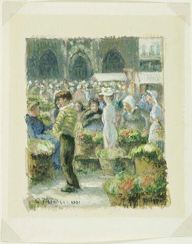 Scène de marché à Dieppe, 1901