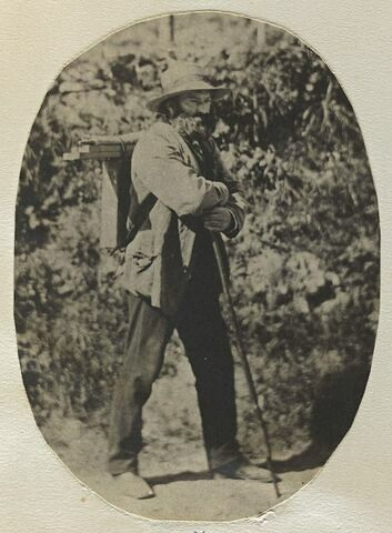 Un homme debout appuyé sur un bâton : Cézanne