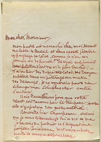 20 novembre 1890, Paris, de Richard Raub à Schuffenecker