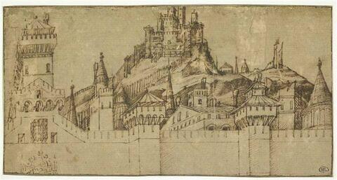 Vue d'une ville fortifiée : Jérusalem