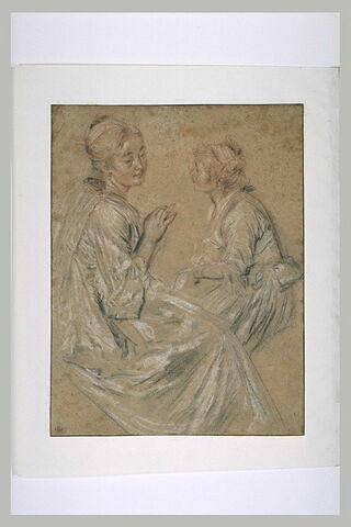 Etude de deux femmes assises