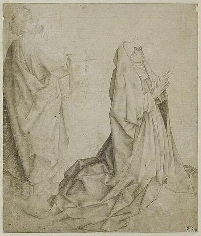 La Vierge agenouillée et saint Pierre