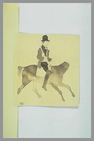 Homme sur un cheval