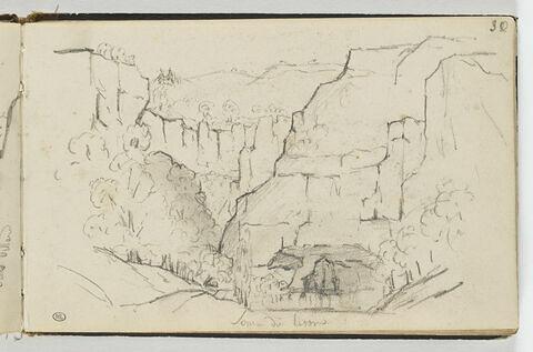 Paysage montagneux: les sources du Lisons