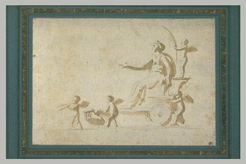 Vénus sur son char tiré par des amours