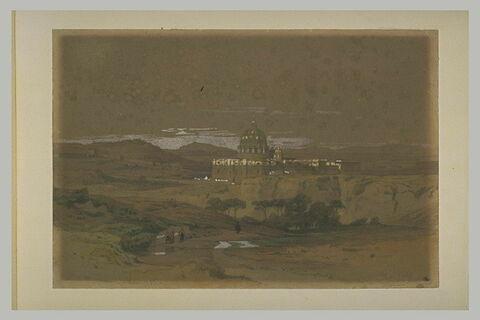 Vue de l'arrière de Saint-Pierre de Rome