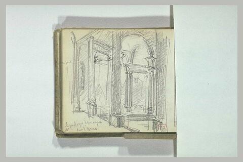 Le portique d'Orcagna sur l'Arno