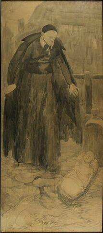 Saint Vincent de Paul trouvant un enfant dans un couffin