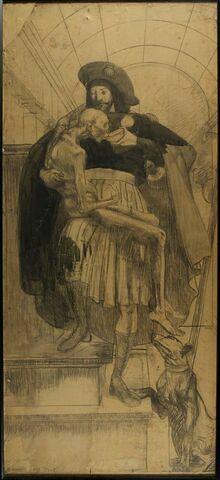 Saint Roch donnant à boire à une enfant malade
