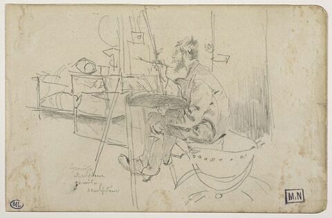 Vincent Gemito (1852-1929) dessinant