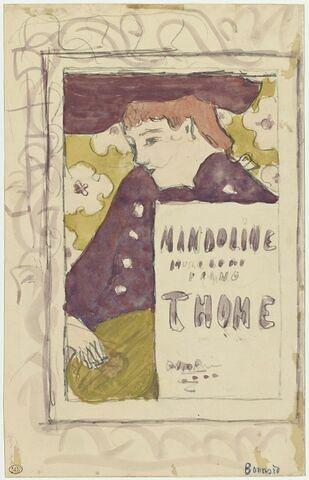 Projet de couverture pour 'Mandoline, morceaux de piano de Thomé'