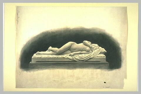 Etude pour une statue de femme nue, étendue sur un lit