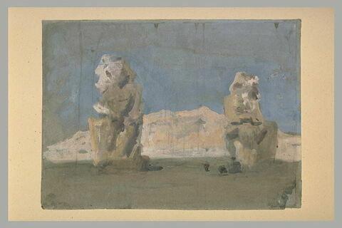 Les colosses de Memnon, à Thèbes