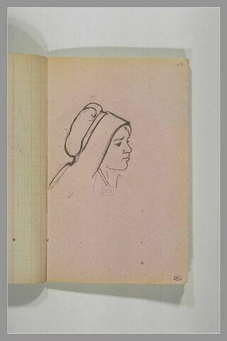 Etude d'une tête de femme en costume breton