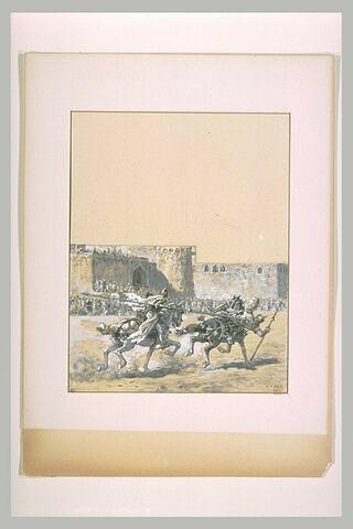 Patrice, le chrétien, combat un cavalier persan