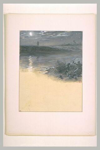 Ouzear tire une flèche sur Antar debout sur l'autre rive de l'Euphrate