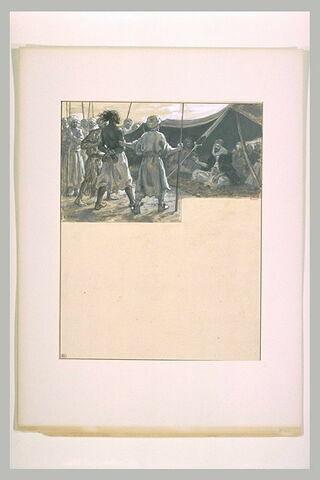 Antar, prisonnier, est conduit devant Mounzir
