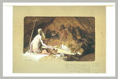 Saint Antoine enseignant les anachorètes de la Thébaïde