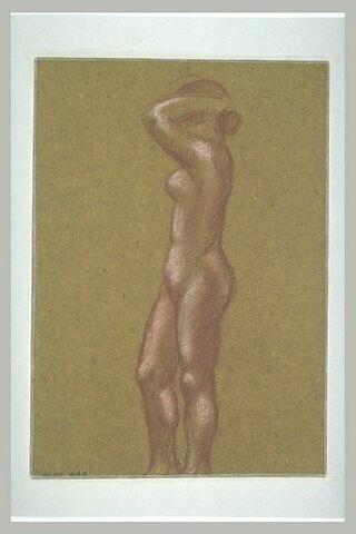 Femme nue, bras levés