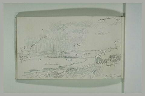 Vue de la côte à Varengeville en 1921