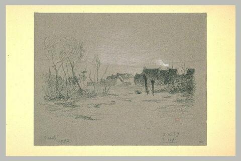 Village en lisière de bois