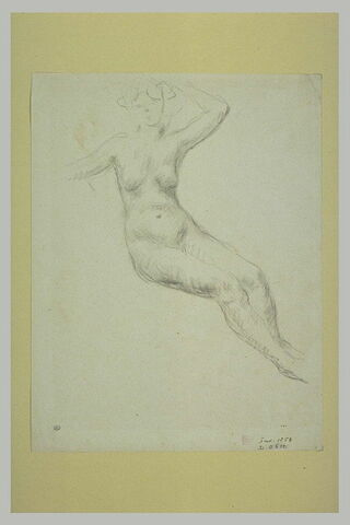 Femme nue, assise