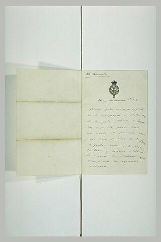 Lettre du roi Léopold II de Belgique